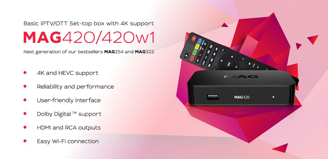 MAG IPTV 420